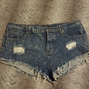 Forever 21 distressed cut off shorts